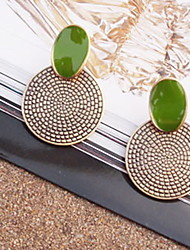 cheap -Women's Stud Earrings - Vintage Statement Screen Color Circle Jewelry Earrings For Party Special Occasion Daily