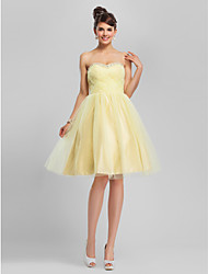cheap -A-Line Ball Gown Strapless Sweetheart Knee Length Tulle Cocktail Party Homecoming Dress with Beading by TS Couture®