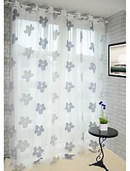 baratos -anti ™ (dois painéis) jacquard floral país cortina completa