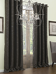 Two Panels Curtain Neoclassical , Leaf Polyester Material Blackout Curtains Drapes Home Decoration For Window
