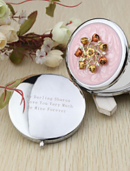 cheap -Personalized Sweet Flower Chrome Compact Mirror Favor Wedding Favors