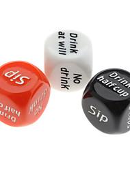 Недорогие -Шестигранные это кубические кости для Tipsness (случайный цвет)