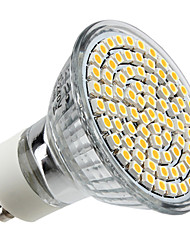 4W GU10 Faretti LED MR16 80 leds SMD 3528 Bianco caldo 2800lm 2800KK AC 220-240V