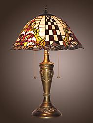 Недорогие -Тиффани настольные лампы железа с 2-огни гальванизируйте отделка
