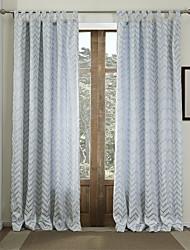 cheap -Two Panels  Geometric Classic Jacquard Energy Saving Curtain