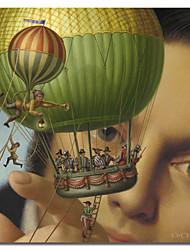trykte lærred kunst folk Gullivers rejser af Dan craig med strakte ramme