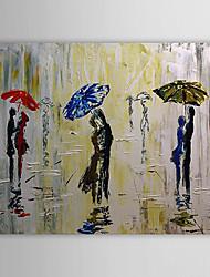 povoljno -Hang oslikana uljanim bojama Ručno oslikana - Ljudi Klasik Platno