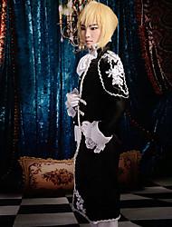 Недорогие -Вдохновлен Вокалоид Kagamine Len видео Игра Косплэй костюмы Косплей Костюмы Пэчворк Длинный рукавКосыночная повязка Пальто Жилетка