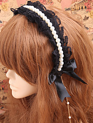 Lolita Jewelry Gothic Lolita Headwear Lolita Lolita Accessories Headpiece Lace For Lace Artificial Gemstones