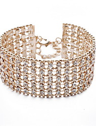 cheap -Women's Crystal Cuff 18K Gold Plated Jewelry Daily Casual Outdoor Costume Jewelry Gold Silver