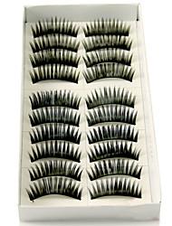 お買い得  -まつ毛 つけまつげ 20 pcs 濃密 まつ毛 クラシック 厚型 日常 化粧 化粧品