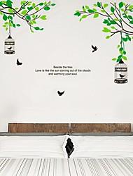 Alberi Filiali Birdcage sticker da parete