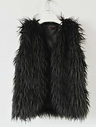 gilet di pelliccia con bel colletto in pelliccia faux casuale / partito gilet (più colori)