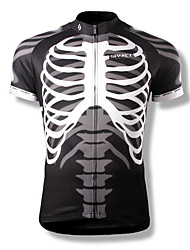SPAKCT Cycling Jersey Men's Short Sleeves Bike Jersey Top Bike Wear Quick Dry Wearable Breathable Skulls Cycling / Bike