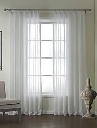 baratos -um par linho moderno jacquard cortina alucinante sólido
