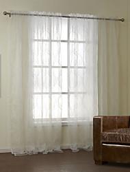 povoljno -Rod Pocket Grommet Top Tab Top Dvaput nabrane Dvije zavjese Prozor Liječenje Neoclassical, Vez Bedroom Poliészter/pamut keverék Polyester