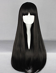 cheap -Lolita Wigs Gothic Lolita Dress Black Lolita Lolita Wig 70 CM Cosplay Wigs Solid Wig For
