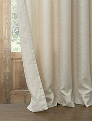 cheap -Curtain Modern , Solid Living Room Poly / Cotton Blend Material Blackout Curtains Drapes Home Decoration For Window