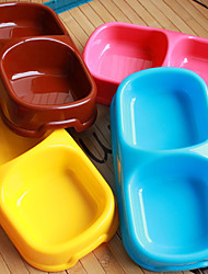 cheap -L Cat Dog Bowls & Water Bottles Pet Bowls & Feeding Waterproof Portable Yellow Brown Blue Pink