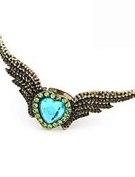 baratos -Hottest Alloy com asas de anjo strass Anel de mulheres em forma (mais cores)