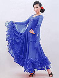 abordables -Danse de Salon Robes Femme Entraînement Tulle Viscose Gland Taille moyenne