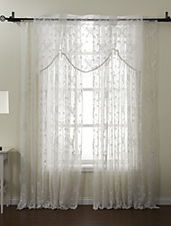 Barra no Interior Anéis Presilhas Duplo Plissado Tratamento janela Regional Poliéster/Algodão Poli/Mistura de Algodão Material Decoração