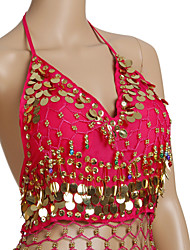 cheap -Belly Dance Tops Women's Training Chiffon Beading Coins Sleeveless