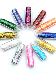 12pcs Multi-color Glitter Strips Nail Art Dekorationer