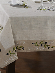 cheap -1Pc 130Cm*130Cm White Linen Square  Lace Economic Table Cloths