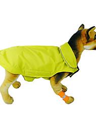 baratos -Gato Cachorro Casacos Colete Roupas para Cães Sólido Laranja Amarelo Rosa Vermelho Azul Náilon Ocasiões Especiais Para animais de