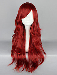 Недорогие -Косплэй парики Жен. 26 дюймовый Термостойкое волокно Красный Аниме / Готика