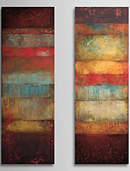 Hand-Painted Abstract Vertical Panoramic,Classic Realism Two Panels Oil Painting For Home Decoration