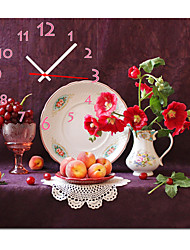 """abordables -12 """"-24"""" style campagnard fructueuse horloge murale en toile"""