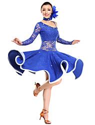cheap -Latin Dance Dresses Women's Performance Lace / Viscose Long Sleeve