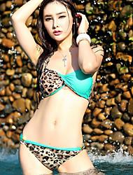 Sexy Leopard Contraste Cor Set Bikini