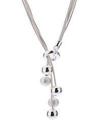 cheap -Pendant Necklace Silver Sterling Silver Titanium Steel Alloy Pendant Necklace , Daily