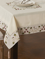 cheap -Beige Linen / Cotton Blend Square Table Cloths Kitchen & Dining
