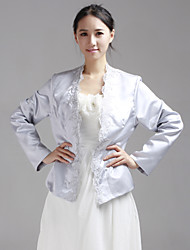cheap -Long Sleeve Lace / Satin Wedding / Party Evening Wedding  Wraps With Coats / Jackets