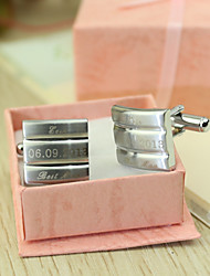cheap -Groom Groomsman Zinc Alloy Cufflinks & Tie Clips Wedding Anniversary Birthday Business