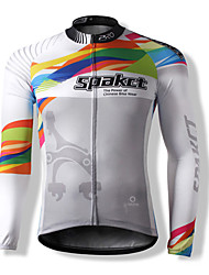 SPAKCT Cycling Jersey Men's Unisex Long Sleeves Bike Jersey Top Thermal / Warm Quick Dry Windproof Front Zipper Dust Proof Anti-Insect