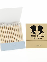 cheap -Wedding Décor Personalized Matchbooks Silhouettes-Set of 12 (More Colors)