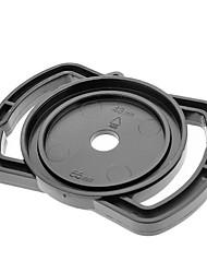 Universale 43 millimetri / 52 millimetri / 55 millimetri Lens Cap Holder Fibbia per SLR Camera - Nero