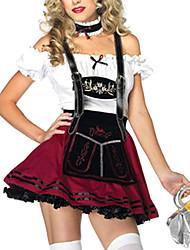 cheap -Maid Costume Oktoberfest Bavarian Cosplay Costume Party Costume Female Oktoberfest Festival / Holiday Halloween Costumes Patchwork