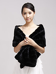 Faux Fur Party Evening Casual Fur Wraps Wedding  Wraps Shawls