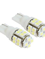 2pcs 20-SMD T10 12V luce bianca LED lampadine di ricambio