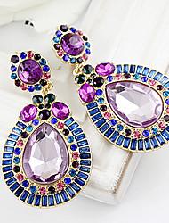 cheap -Women's  Blue Gemstone WaterDrop Earrings
