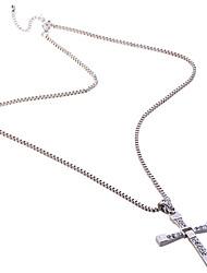 Недорогие -Муж. Ожерелья с подвесками Крестообразной формы Стразы Искусственный бриллиант Сплав Pоскошные ювелирные изделия бижутерия Бижутерия