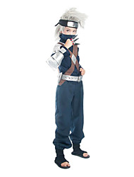 cheap -Inspired by Naruto Hatake Kakashi Anime Cosplay Costumes Cosplay Suits Patchwork Long Sleeve Top Pants Belt Bag For Male