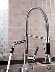 Недорогие -кухонный смеситель - Одно отверстие Хром Настольная установка Современный Kitchen Taps