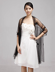 cheap -Sleeveless Tulle Wedding Party Evening Shawls Wedding  Wraps Shawls